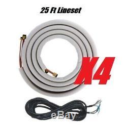 Ymgi 48000 Btu Quad Zone Ductless Mini Split Air Conditioner Heat Pump 4x12000