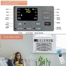 Zokop 10,000 BTU 3 Speed Window Air Conditioner 450 sp. Ft. Timer Remote Control