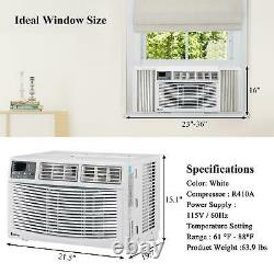 Zokop 10,000 BTU 3 Speed Window Air Conditioner with 450 Sq. Ft. Room Coverage