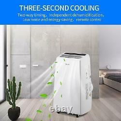 Zokop 12000BTU Air Conditioner 3-in-1 Portable Dehumidifier Fan AC Unit 3 Speeds