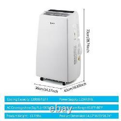 Zokop 12000BTU Remote Control Portable Air Conditioner Dehumidifier Fan Home