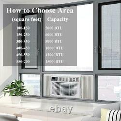 Zokop 12000 BTU 3-Speed Window Air Conditioner with Remote Control 450 sq. Ft
