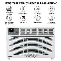 Zokop 15000 BTU Window Air Conditioner Electric Heater Cooling 700 sq. Ft AC Unit