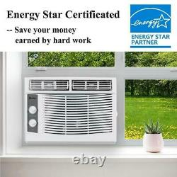 Zokop 5000BTU 3 Speed Window Air Conditioner Cooling 150Sq. Ft Dehumidifier Fan