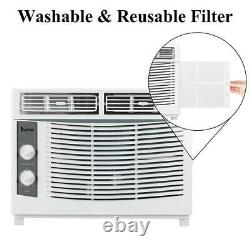 Zokop 5,000 BTU Window Air Conditioner AC Cooler Unit Dehumidifier Fan Knob 2021