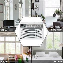 Zokop 8,000 BTU Window Air Conditioner 350 sq. Ft. 24h Timer Remote Control White