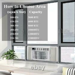 Zokop 8,000 BTU Window Air Conditioners Remote Control 3 Speed Dehumidifier Fan
