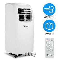 Zokop Portable 8000 BTU AC Air Conditioner Dehumidifier Fan Function A/C Unit