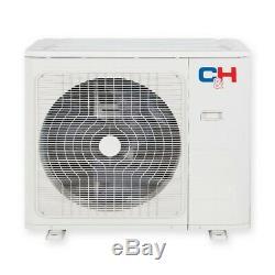 12000 Btu 115v Ductless Mini Climatiseur Split Pompe À Chaleur Wifi Ensemble Complet
