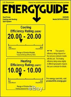 12000 Btu Climatiseur Mini 20 Seer De Split Inverter Ac Ductless Pompe À Chaleur 110v
