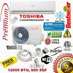 12000 Btu Climatiseur Mini Split 19 Seer Inverter Ac Ductless Froide Seulement 220 V