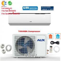 12000 Btu Mini Split Inverter Climatiseur Mural Système De Pompe À Chaleur 115v 17 Seer