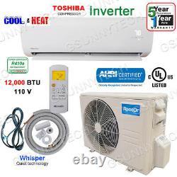 12 000 Btu Mini Climatiseur Split 16,5 Graine Inverter Thermopompe Sans Conduit 110v