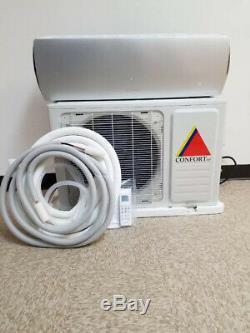 12 000 Btu Système Ductless Climatiseur, Pompe À Chaleur Mini Split 110v 1 Ton Withkit