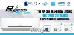 1,5 Ton 18 000 Btu Ductless Mini Climatiseur Split Pompe À Chaleur 23 Wifi Aircon