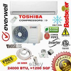 24000 Btu Climatiseur Mini 20 Seer De Split Inverter Ac Ductless Seulement Froid 220 V