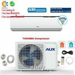 24000 Btu Ductless Air Conditioner Inverter Pompe À Chaleur Mini Split Wifi 230v