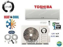 24000 Btu Ductless Air Conditioner, Pompe À Chaleur Mini Split 220v 2ton Withkit