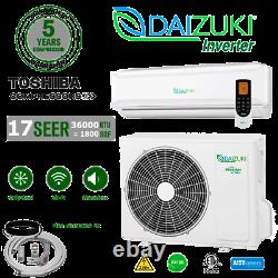 36000 Btu Climatiseur Mini Split 17 Seer Onduleur Ac Ductless Only Cold 220v