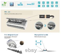 36000 Btu Ductless Air Conditioner Inverter Pompe À Chaleur Minisplit Wifi 3 Ton 12 Ft