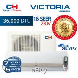36000btu 230v Mini Split Ductless Climatiseur Pompe À Chaleur 16 Seer C & H Victoria