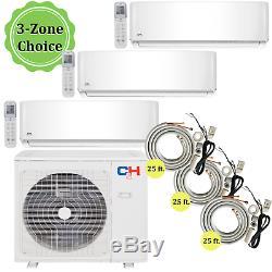 3 Zone Ductless Mini Climatiseur Split A / C 9000 9000 12000 Avec Le Kit