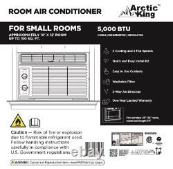 5 000 Btu 115v Climatiseur De Fenêtre Mécanique Arctic King, Wwk05cm01n