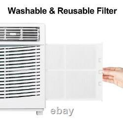5 000 Btu Fenêtre Climatiseur Cooler Déshumidificateur Ventilateur Zone De Refroidissement 150 Sq. C'est-à-dire Qu'il N'y A Pas De
