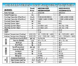 9000 Btu Hyper Pompe À Chaleur Ductless Mini Climatiseur Split 27.5 Seer Air-con