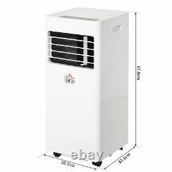 Climatiseur Mobile Homcom Avec Refroidissement Rc Déshumidifiant Ventilateur 5000 Btu