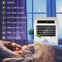 Climatiseur Mobile Homcom Avec Télécommande Refroidissement En Mode Sommeil 9000btu