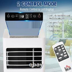 Climatiseur Mobile Homcom Avec Télécommande Refroidissement Mode De Couchage 10000 Btu