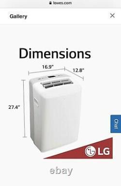 Climatiseur Portable Lg 8 000 Btu, 115 Volts Avec Déshumidificateur Lp0817wsr