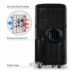 Della 14000 Btu Climatiseur Portable A/c + Chauffe-eau 1050w + Déshumidificateur + Ventilateur