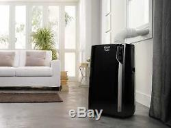 Delonghi 14 000 Btu Ashrae Portable Climatiseur Avec Chaleur, Noir