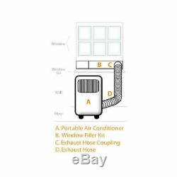 Edgestar Ap8000w 8000 Btu 115v Climatiseur Portable Cools Blanc