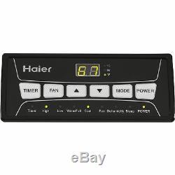Haier 250 Sq. Ft. 2 Vitesses Climatiseur Portable Avec Télécommande, Blanc