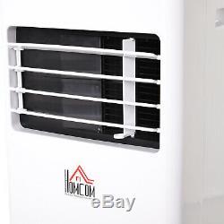 Homcom Climatiseur Mobile Avec Rc De Refroidissement Déshumidification 5000 Btu Ventilating