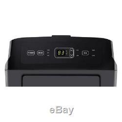 Lg 12 000 Btu Ashrae 115 Volts Climatiseur Portable Avec Télécommande, Gris