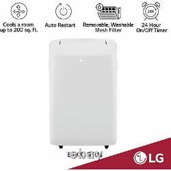 Lg 8,000 Btu 115 V Climatiseur Portable Avec Télécommande Lp0817wsr