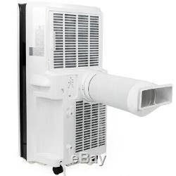 Portable 14000 Btu Climatiseur Dehumidifier Ac Ventilateur LCD + Fenêtre Kit- Blanc