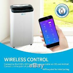 Rollicool App-activé 14000 Btu Climatiseur Portable Avec Déshumidificateurs Chauffage
