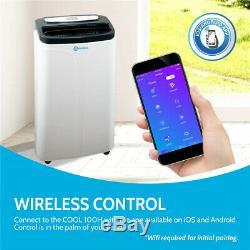 Rollicool App-activé Climatiseur Portable 14000 Btu Unité Ac Avec Chauffage Ventilateur
