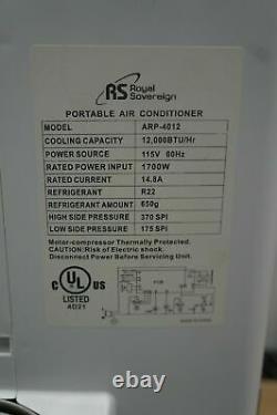 Royal Sovereign Arp-4012h Climatiseur Portable 12 000 Btu
