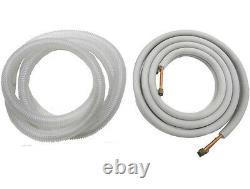 Seer 9000 Btu 25 Ductless Mini Ac Split / Hyper Pompe À Chaleur Avec Lineset / 3/4 Tonne