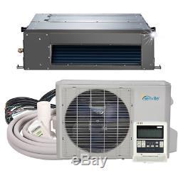 Senville 24000 Btu Climatiseur Conduit Dissimulé Avec Mini Split Pompe À Chaleur