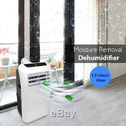 Serene-vie 10 000 Btu Climatiseur Portable Dehumidifier A / C + Ventilateur À Distance