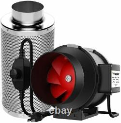 Vivosun 6inch 390 Cfm Inline Duct Fan With Carbon Filter Odor Control For Tent