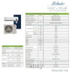 Ymgi 12000 Btu Hybride Solaire Ductless Mini Split Air Conditioner Pompe À Chaleur Se35