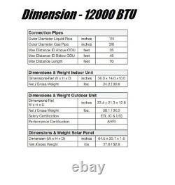 Ymgi 12000 Btu Solar Assist Ductless Mini Split Air Conditioner Avec HP Naq582